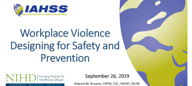 IAHSSS Designing for Safety Webinar